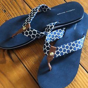 Tommy Hilfiger Navy Sandals size 9